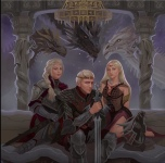 The Targaryen's Circa 1 BC: Aegon the Conqueror with his sister-wives Visenya and Rhaenys. Notice Balerion 'The Black Dread', Vhagar, and Meraxes.