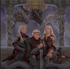The Targaryen's Circa 1 BC: Aegon the Conqueror with his sister-wives Visenya and Rhaenys. Notice Balerion 'The Black Dread', Vhagar, and Meraxes.